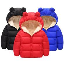 Nowe mody futrzane kurtki dla chłopców i dziewcząt i znosić ciepłe kurtki zimowe z kapturem dla chłopca dziewczyny płaszcz dzieci futro zimowe ubrania chłopców płaszcz tanie tanio Moda COTTON CN (pochodzenie) Patchwork REGULAR Kurtki płaszcze Pełna Pasuje prawda na wymiar weź swój normalny rozmiar