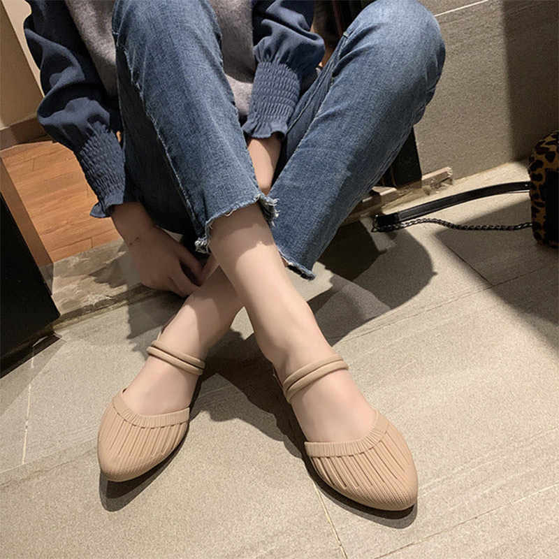 New Summer Women Shoes Pointed Toe Woman Casual Sandals Comfort Ladies Wedge Jelly Shoes Fashion Female Two Wear Slippers