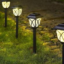 6LED lampy ogrodowe na energię słoneczną na zewnątrz lampa zasilana energią słoneczną latarnia wodoodporna oświetlenie krajobrazu na szlaku Patio ogródek dekoracja trawnika tanie tanio ABEDOE CN (pochodzenie) Solar Lawn Light 1 2 v Żarówki żarowe Nowoczesne W nagłych wypadkach