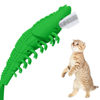Pet Cat Dog Catnip Toothbrush Teething Toy Interactive Shrimp Shape Funny Toy Cleaning Supplies