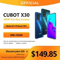 Cubot X30 Smartphone 48MP cinq caméra 32MP Selfie 8 go + 256 go NFC 6.4 FHD + écran Fullview Android 10 Version globale Helio P60