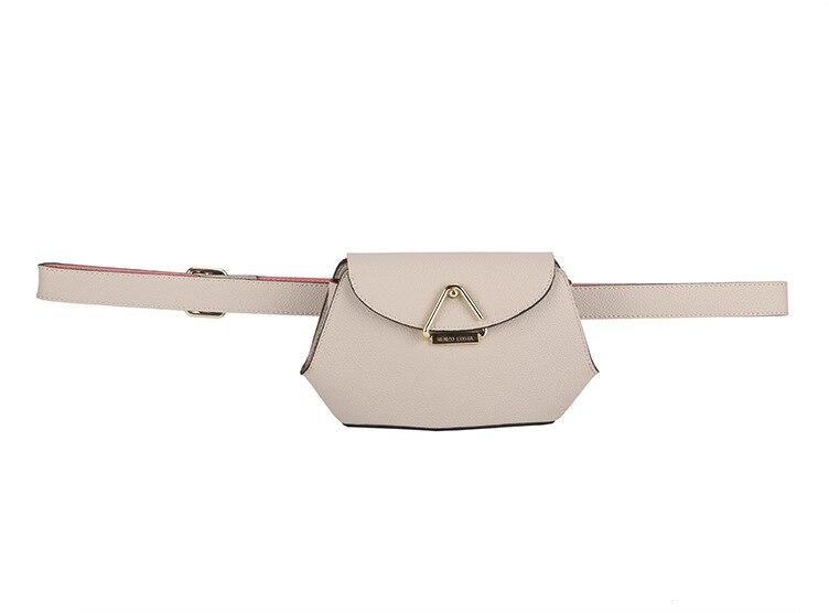 100% Genuine Leather Cow Skin Women Small Belt Bag Waist Packs