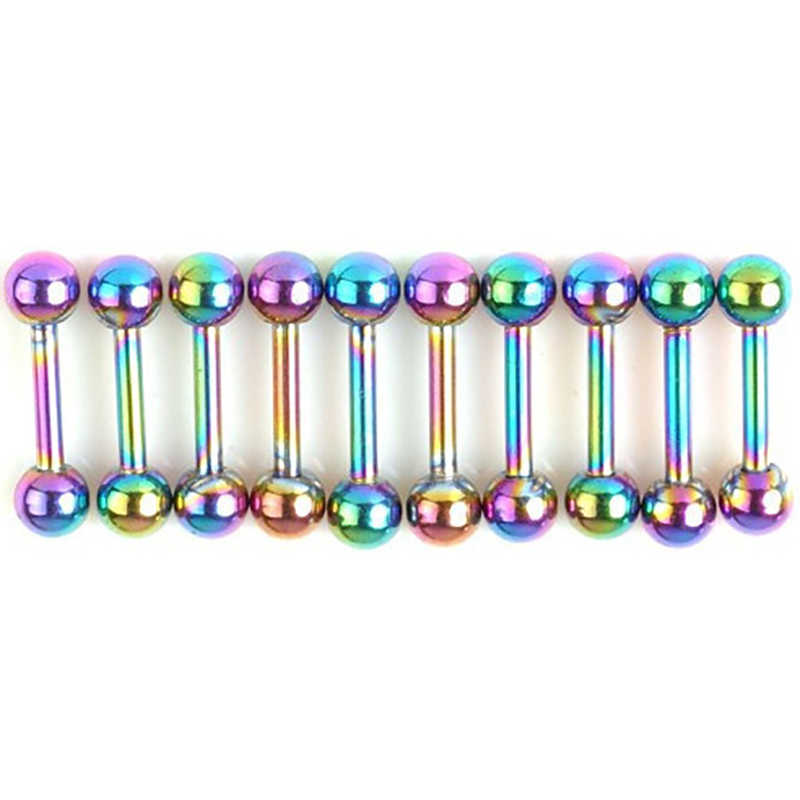 8 ชิ้น/ล็อตปลอม Septuml Segment ไทเทเนียมเจาะจมูก Helix Labret เจาะ Septum หู Tragus แหวนเจาะเครื่องประดับ