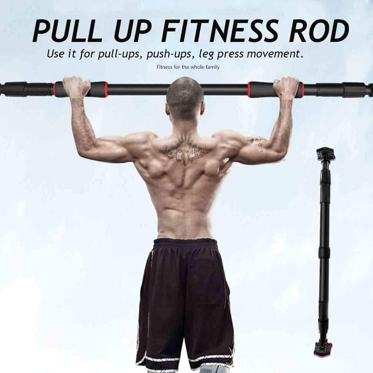 66 130cm Door Horizontal Bars Exercise Home Workout Gym Chin Up Training Bar Sport Fitness Equipments Adjustable For Doorway Aliexpress