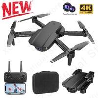 XCZJ-Mini Dron 4K E99 Pro2 RC, 1080P, cámara Dual, WIFI, FPV, fotografía aérea, helicóptero, Quadcopter plegable, Juguetes
