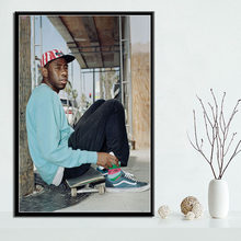 Tyler The Creator Hip Hop Rapper Canvas Painting Posters And Prints Pictures On The Wall Vintage Decorative Home Decor Tableau(China)