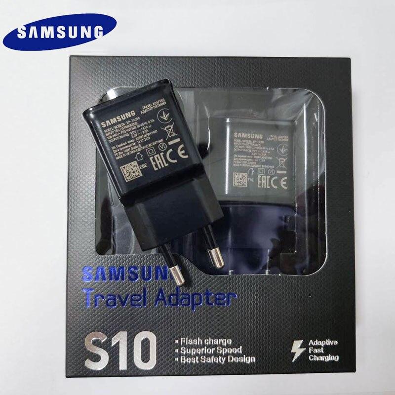 Samsung S10 быстрое зарядное устройство USB адаптер питания 9 В 1.67A кабель быстрой зарядки типа C для Galaxy S10 S8 S9 Plus A3 A5 A7 2017 note 8 9