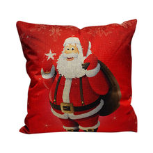 NEW Christmas Festival Pillow Santa Claus Printing Dyeing Sofa Bed Home Decor Pillow Bedroom Christmas Cushion Hot Sale LD(China)