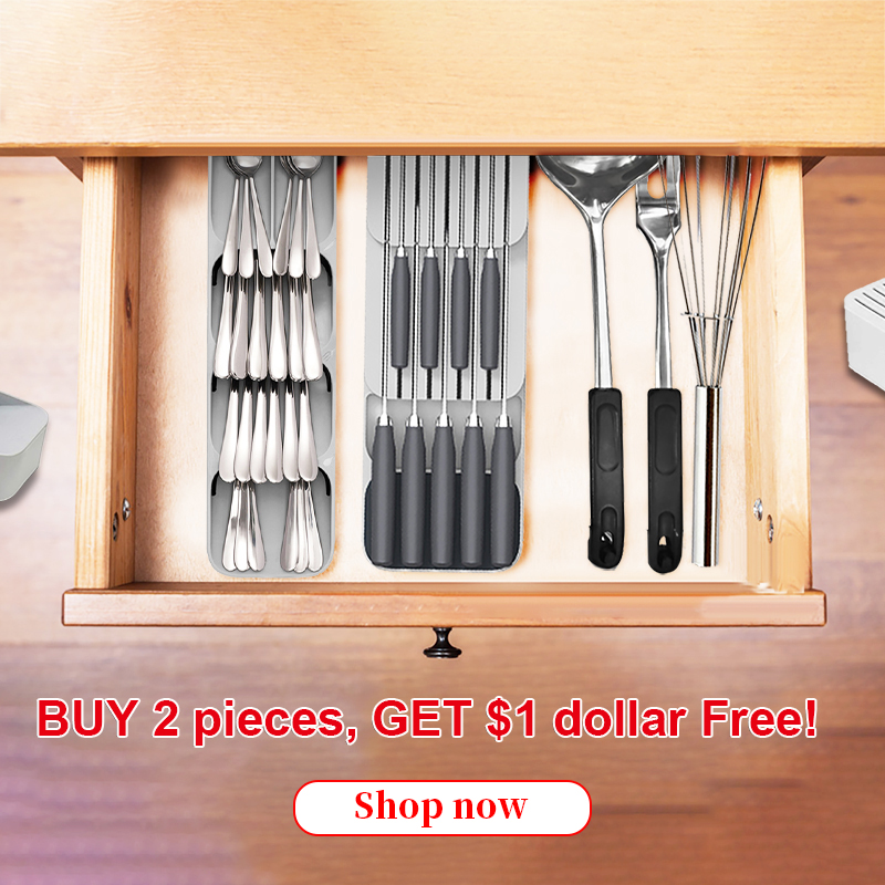 Kitchen Cutlery Drawer Organizer Plastic Knife Block Holder Tray Knives Storage Rack Knife Stand Organizador Cocina Space Save