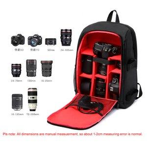 "Image 5 - Multi functional Waterproof w/ Rain Cover 15.6"" Laptop Video Case Digital DSLR Photo Padded Backpack Camera Soft Bag for SLR"