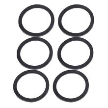 WINOMO 3/6pcs Rubber Ring Flat Tube Joint Valve Pipe Gasket Flush For Electrical Appliance Industrial Construction