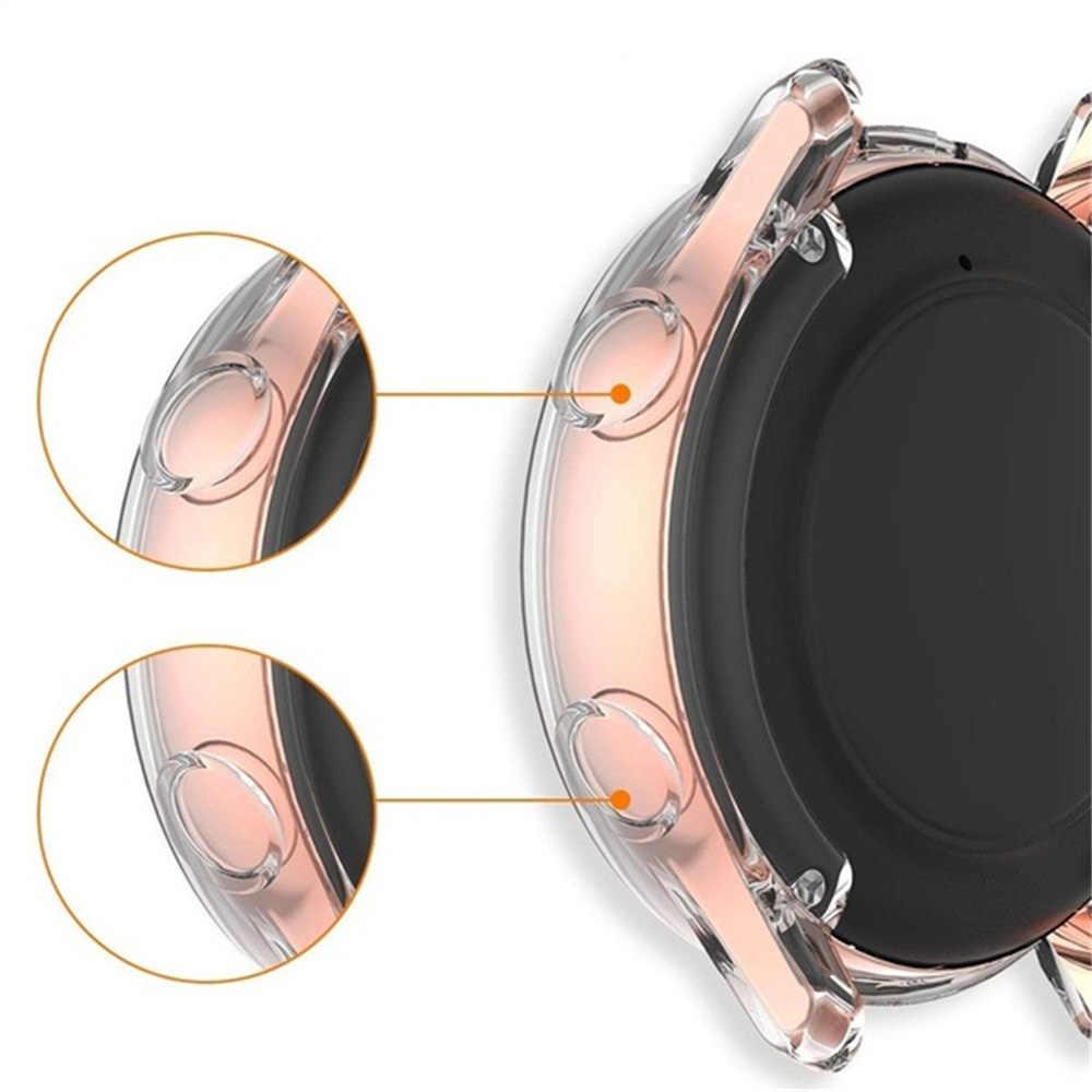 Para samsung galaxy assista ativo 2 40mm 44mmclear tpu assista caso capa protetora para carros protetores de relógio inteligente caso quadro