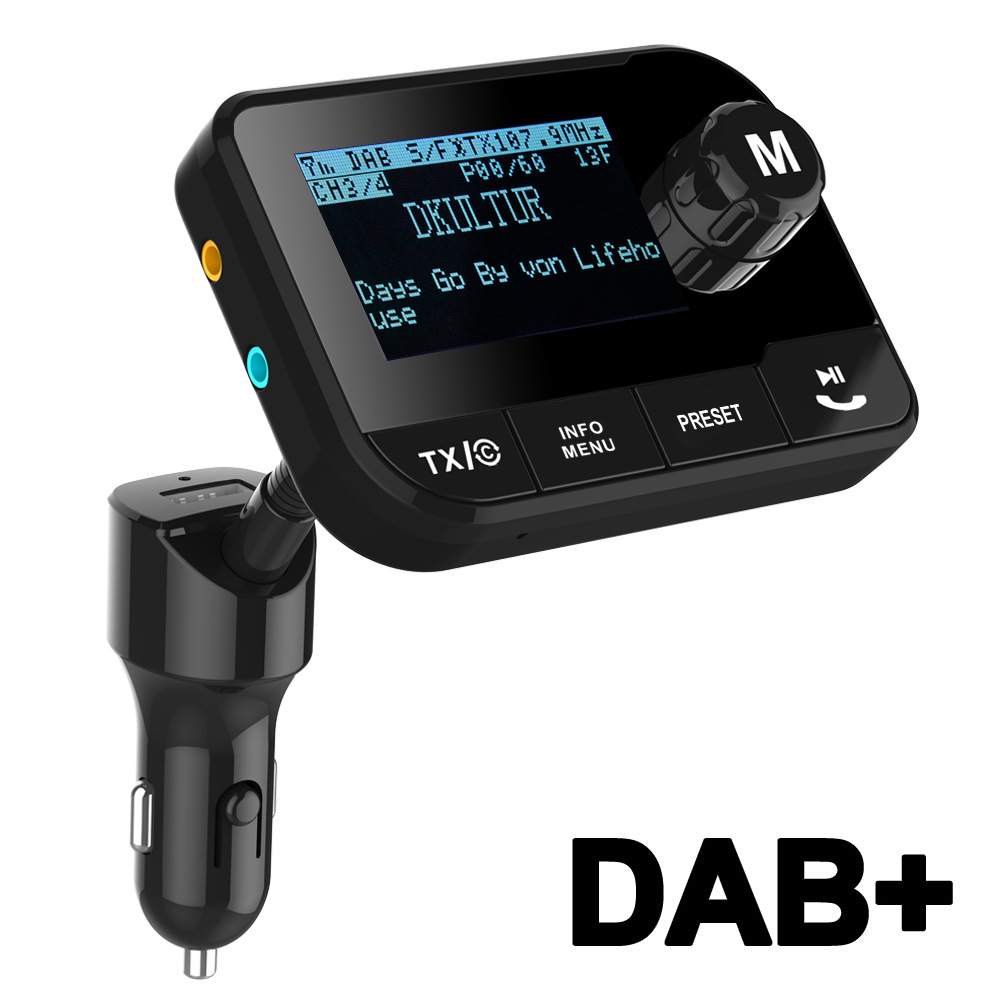 Electricity Supplier Vehicle-mounted FM Emitter DAB + Digital Radio Car MP3 with Bluetooth FM Transmitter