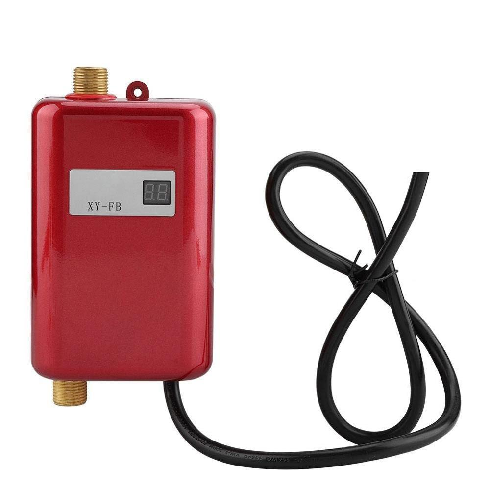 ALDXY50-XY-FB-R,Electric Water Heater 220V,3000W Mini Tankless Instant Hot Water Heater System For Bathroom Kitchen Household