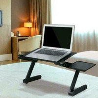 Adjustable Laptop Economical Folding Desk Table Tray Bed Mouse Holder with Fans for Home ds99