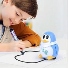 Индуктивный поезд волшебная ручка обучающая игрушка мультфильм робот Пингвин Следуйте любой линии вы рисуете нарисованный Рождественский подарок для детей
