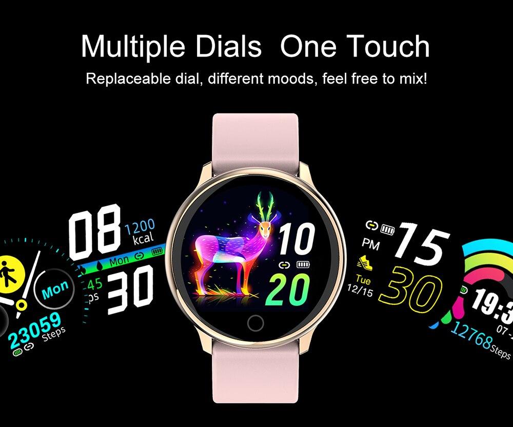 Q16 relógio inteligente avançado milanês magnético fitness