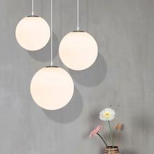 купить Modern LED Glass Pendant Lamps Kitchen Fixtures Pendant Lights Lighting Hanglamps Living Room Hanging Lamps Suspension Luminaire онлайн