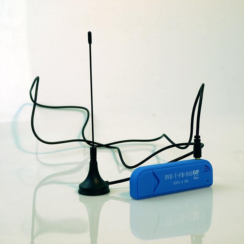 TV Tuner USB2.0 Blue TV Stick DAB FM DVB-T RTL2832U R820T SDR RTL-SDR Dongle Stick Digital TV Receiver IR Remote With Antenna