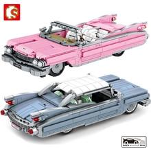 SEMBO BLOCK Creator High-Tech Retro Car Building Blocks Moc Bricks Classic Cars Toys Car Model Christmas Gifts For Kids Toys Boy