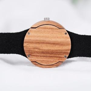 Image 5 - BOBO BIRD kompletny zegarek z kalendarzem kobiety Zebra zegarek kwarcowy z drewna panie drewniane zegarki relogio feminino Dropship