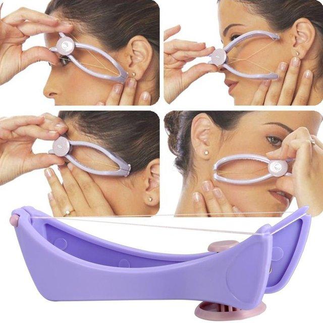 Women Facial Hair Remover Spring Threading Epilator Face Defeatherer DIY Makeup Beauty Tool for Cheeks Eyebrow 5