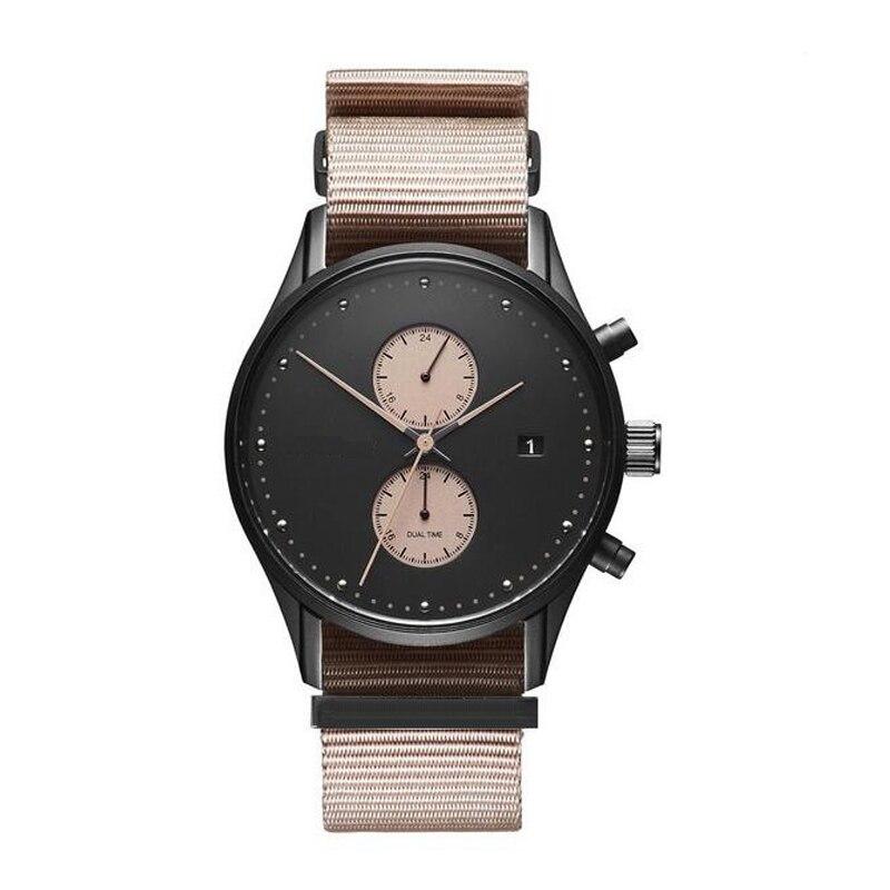 Fashion Casual Men Watch Top Brand Luxury Leather Quartz Wristwatch Man Clock Chronograph Waterproof Sport Watches for Men