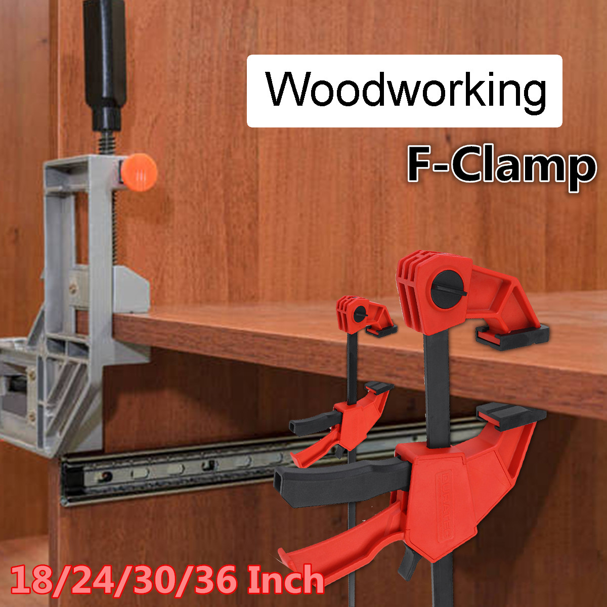 18/24/30/36 Inch Aluminium Alloy Heavy Duty F Clamp Clip Wood Working Quick Grip F Style Bar Woodworking Clamps Pipe Tools
