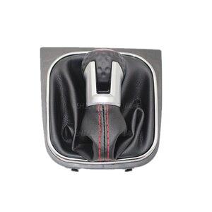 Image 5 - Для VW Golf 6 A6 VI MK6 GTI gtd R20 2009 2010 2011 2012 2013 автомобильный stying 5/6 Скорость Автомобильная липучка Шестерни рукоятка рычага переключения передач с кожаные ботинки