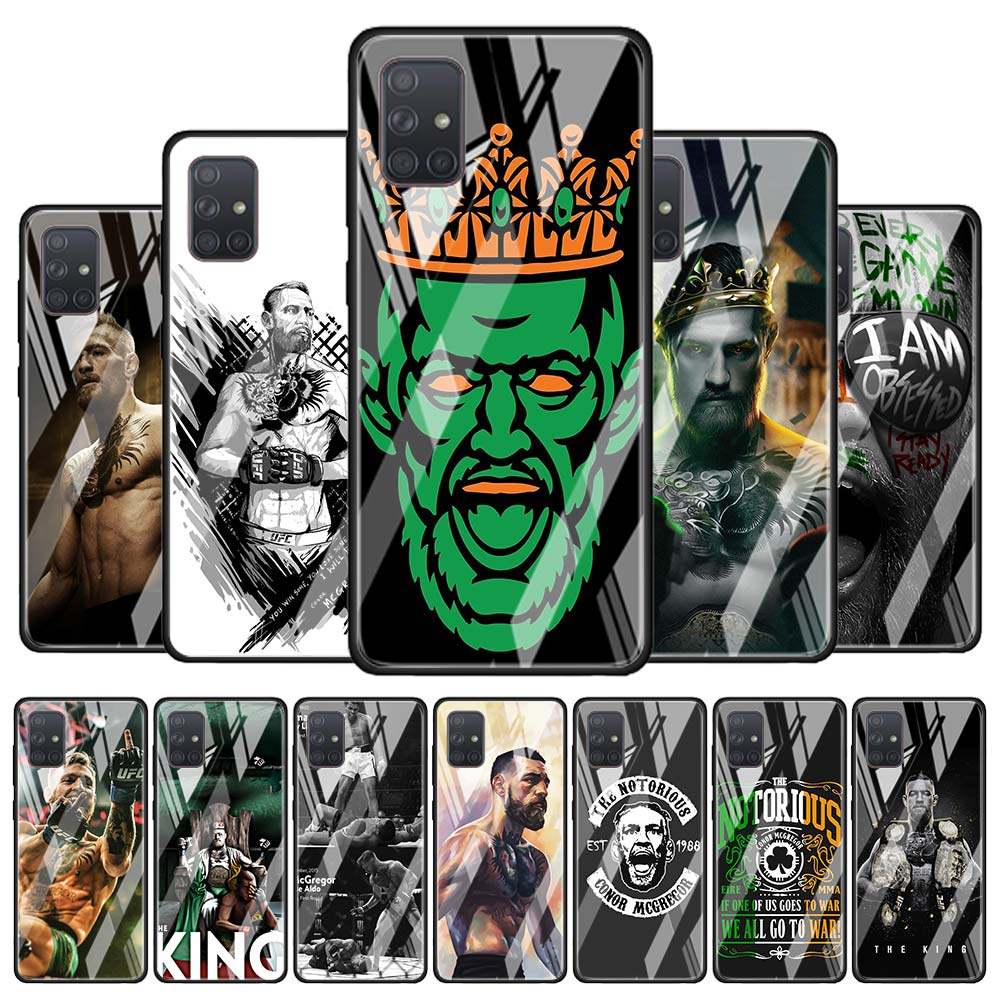 Conor Mcgregor The King Tempered Glass <font><b>Case</b></font> Coque for <font><b>Samsung</b></font> Galaxy A51 A71 A81 A91 M31 A10 A20 A30 A40 A50 <font><b>A70</b></font> Cover Shell image
