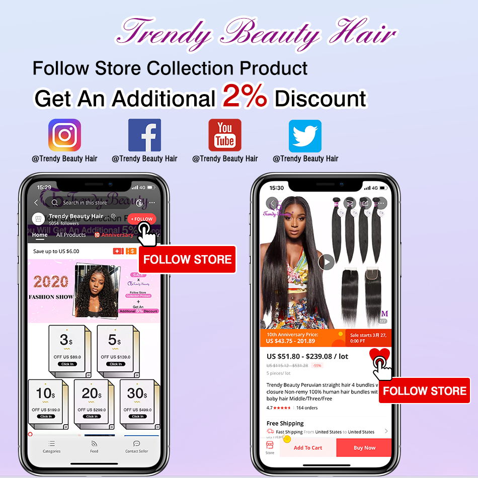 Straight Hair 3/4 Bundles 100%  Bundles Non- 8-30 Inches Double Weft  Trendy Beauty 6