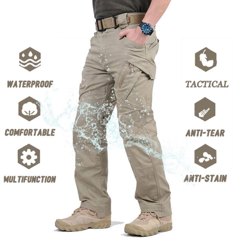 Military Tactical Pants Men Multi pocket SWAT Combat Army Trousers Male IX9 Waterproof Wear Resistant Cargo Joggers Big Size 5XL