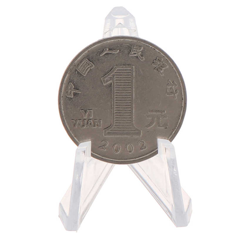 1 karta pc wyświetlacz stojak do ekspozycji akrylowa biżuteria stojak uchwyt kolekcje monety sztalugi Medal pokrowiec na karty