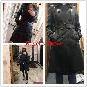 Image 2 - AYUNSUE, 100% натуральная овечья шерсть, пальто для женщин, уличная одежда, длинные пуховики, осенне зимняя куртка, женские Куртки из натуральной кожи, MY3731