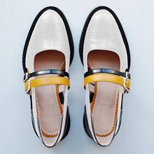 SWYIVY kadın sandalet yaz 2019 Vintage toka kayış siyah bayanlar rahat ayakkabılar blok topuk ayakkabı kadın sandalet artı boyutu 34 43