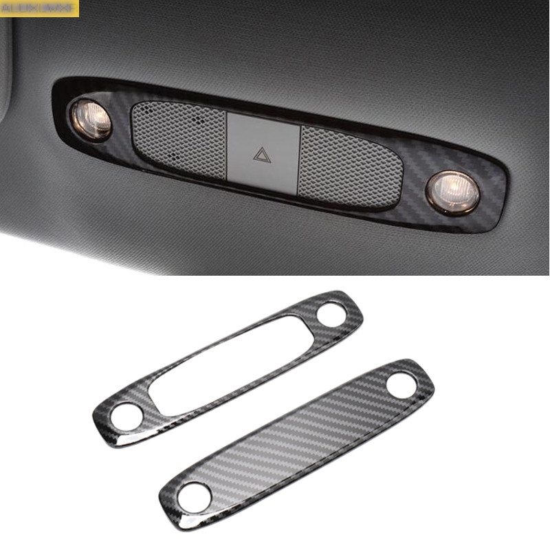 Rear Seat Reading Light Cover Trim Decoration Strips Interior Roof Lamp Frames Car Accessories For Tesla Model 3 2018 2019