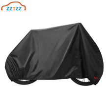 1Set Outdoor Bike Cover Waterproof Windproof Dustproof UV Resistant Bicycle Cover with Lock Holes for Mountain Bikes Road Bikes cheap ZZTZZ 1 7m Cover for Mountain Road Bikes 0 4g 0 6m