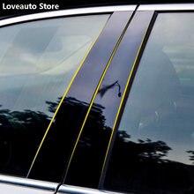 Voiture fenêtre colonne centrale B C pilier couverture garniture moulures autocollant cadre extérieur pour Toyota RAV4 RAV-4 2019 2020 2021 2014-2018