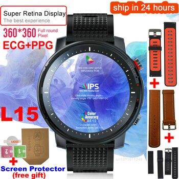 Reloj inteligente L15 para hombre de 1,3 pulgadas con pantalla Retina redonda, Cámara de Control de música, linterna PK L5 L9 Smartwatch IP68 a prueba de agua
