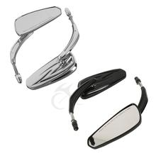 цена на Motorcycle Black/Chrome Tribal Rear Mirror For Harley Touring Sportster Softail Road King Electra Glide Ultra Limited CVO Tri