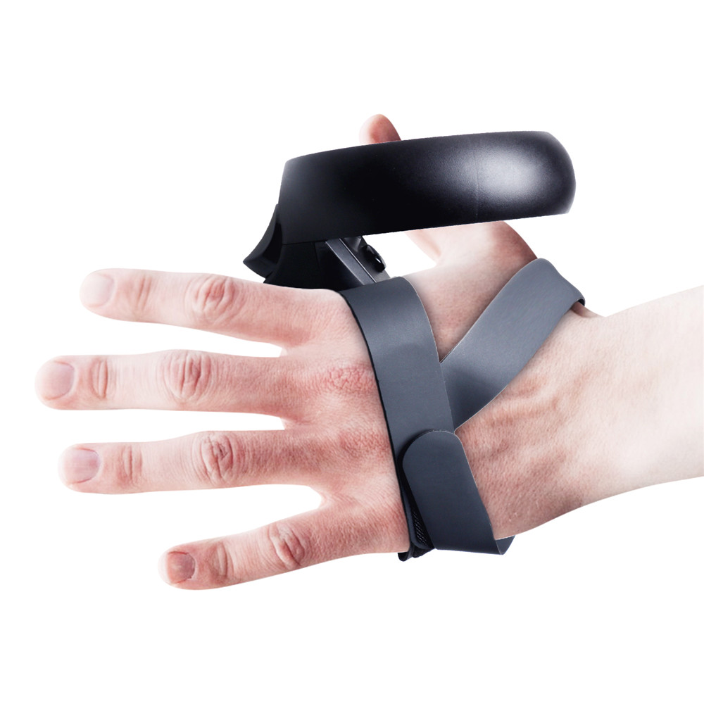 VR Touch Controller Grip Adjustable Handle Knuckle Straps Improved Version for Oculus Quest   Rift S VR Headset Accessories