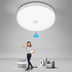 Умный Ночной светильник, светодиодный потолочный светильник с датчиком движения 110 В 220 В, подсветка стен в коридоре светильник, коридор, Ноч...
