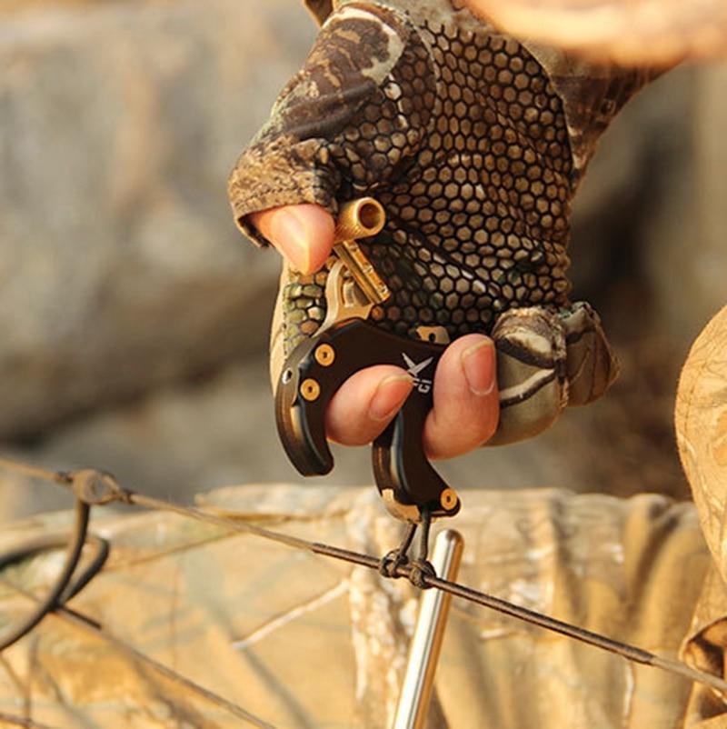 Gire braçadeira arco composto liberação aids quatro-dedo