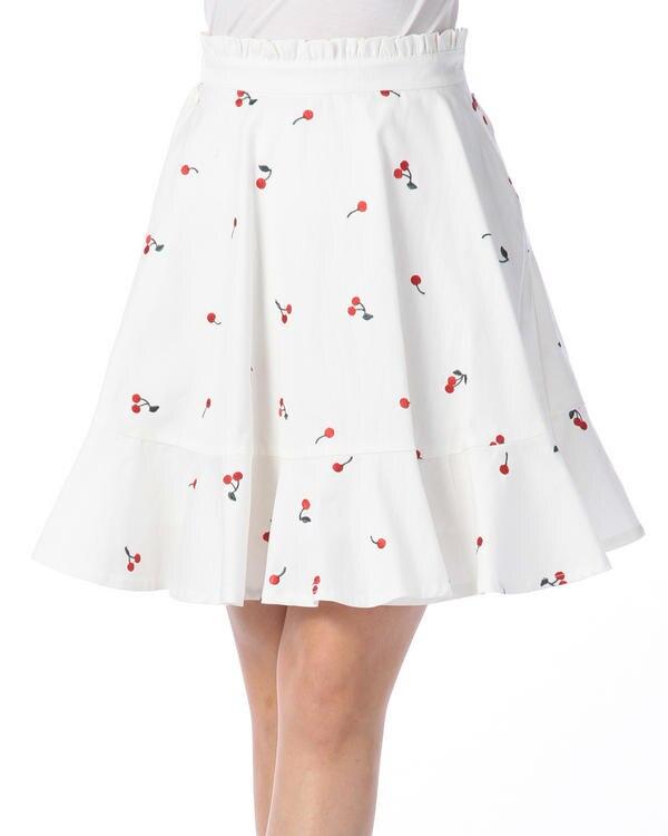 Liz Lisa New Spring And Summer Magazine Cherry Embroidered Cotton Half Skirt