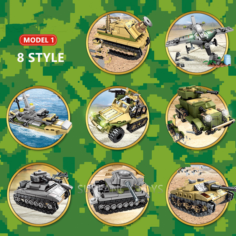 1061Pcs Military Iron Empire Tank Model Building Blocks Sets Weapon LegoINGLs