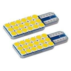 2 pièces nouveau T10 W5W Super lumineux 3030 LED voiture intérieur lecture dôme lampes Auto compartiment à bagages lumière cale porte ampoule blanc chaud