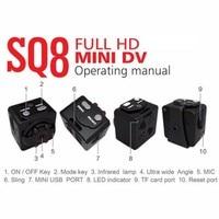 SQ8 1080P Full HD Смарт маленькая камера микро мини камера видео камера ночного видения беспроводной видеорегистратор DV крошечная мини камера мик... 1