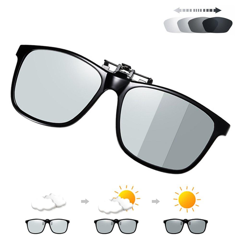 Мужские и женские поляризационные солнцезащитные очки на застежке-липучке с поляризационными линзами ночного видения