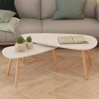 VidaXzL 2 قطع مجموعة طاولة القهوة الصلبة خشب الصنوبر أثاث عصري الجدول basse لغرفة المعيشة الخشب منخفضة طاولة قابلة للطي-في طاولات المقهى من الأثاث على