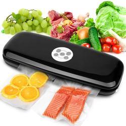 220V/110V Household Food Vacuum Sealer Packaging Machine Film Sealer Vacuum Packer Including 5Pcs Bags